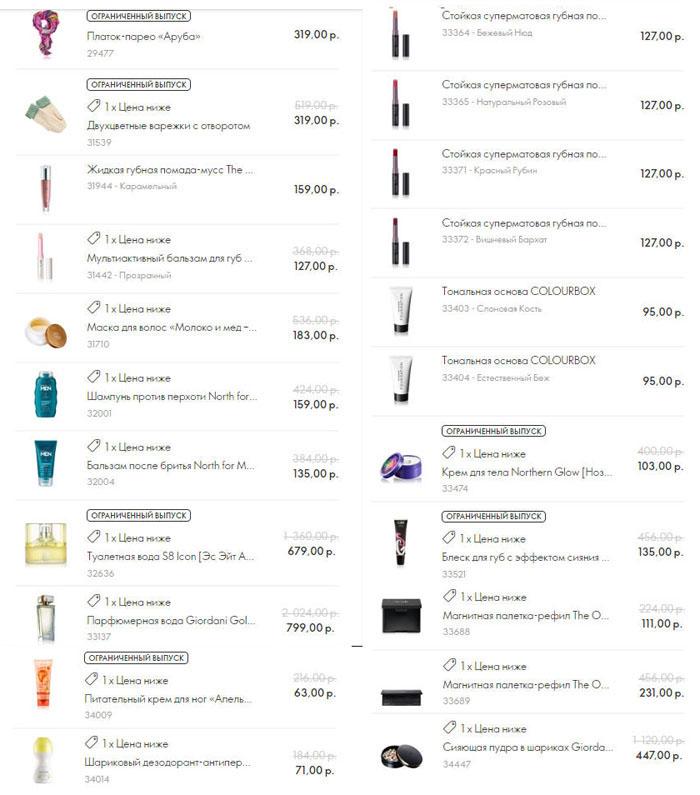 Распродажа Чёрная пятница 2018 Список продуктов Скрин корзины