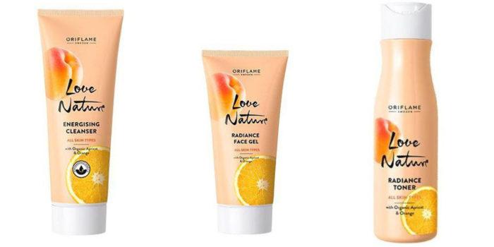 Love Nature с органическим абрикосом и апельсином