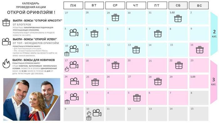 Календарь розыгрышей